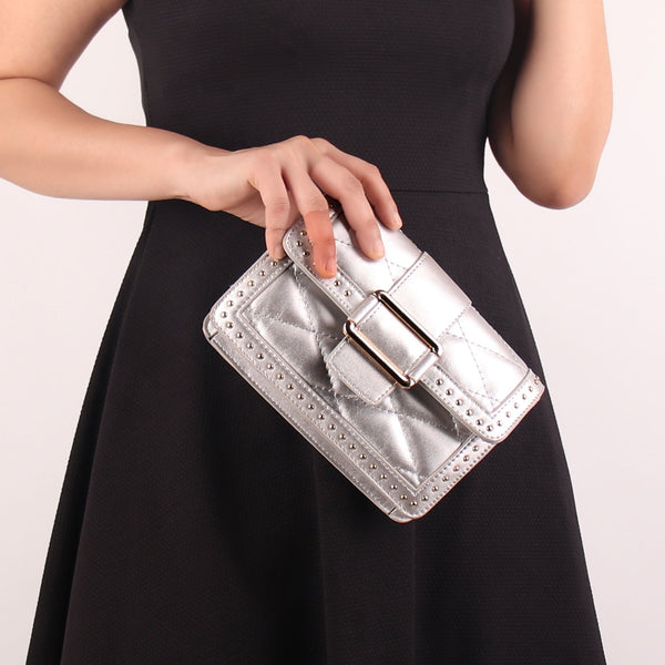Sling Bag,The Pearly Gleamy Sling Bag in Silver - Cippele Multi Store