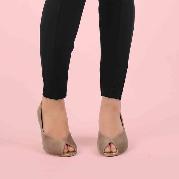 Foot Wear,The Stylish Sneaky Brown Heels - Cippele Multi Store