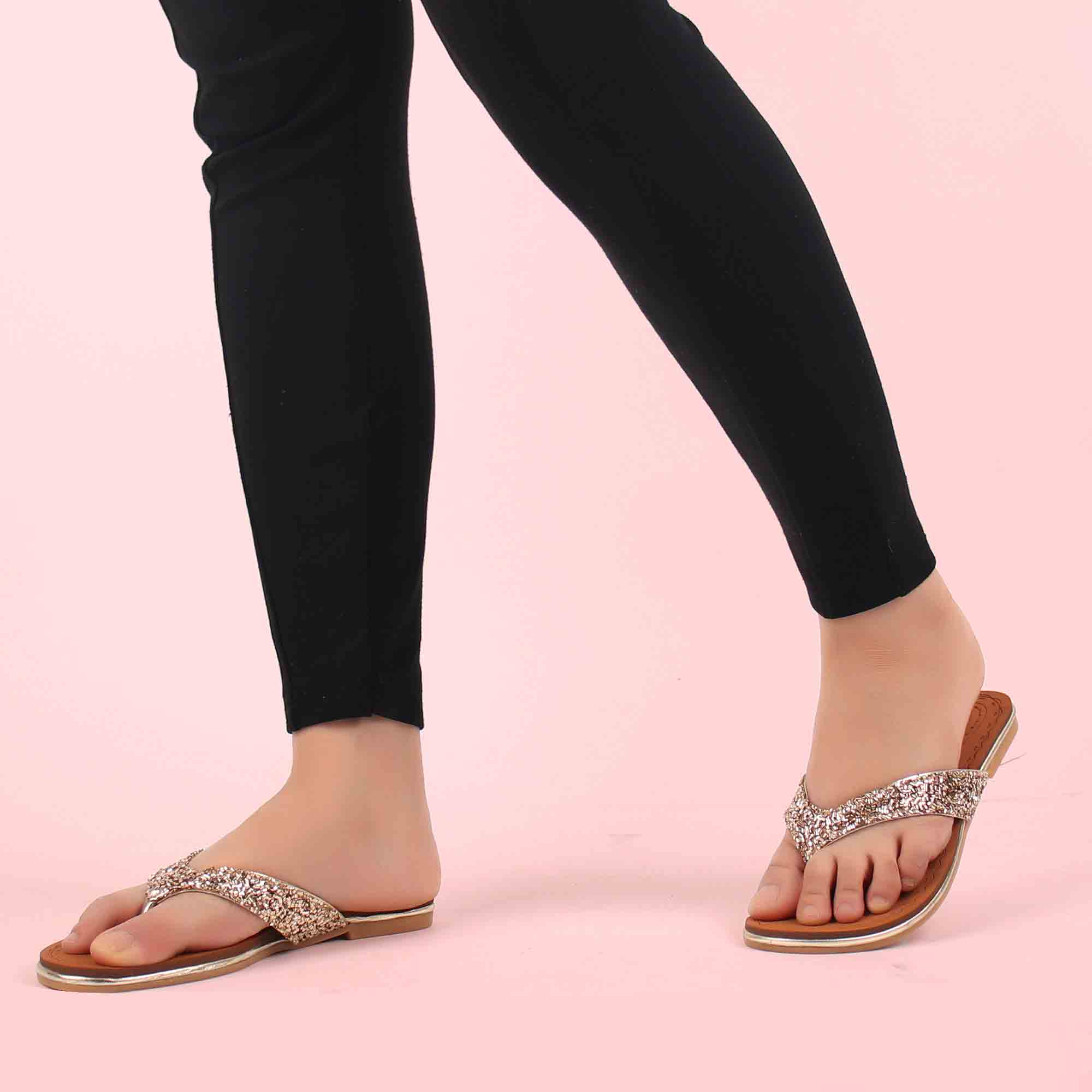 Foot Wear,The scintillating shimmer Comfortable Flats - Cippele Multi Store