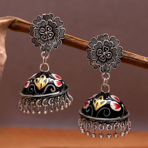 Hand Painted Exquisite Jhumkas