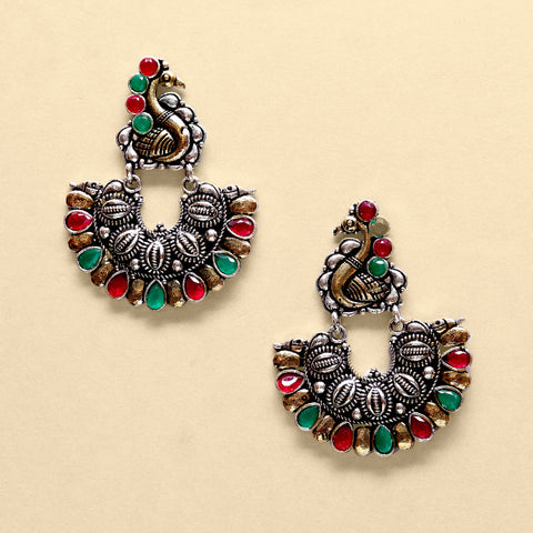 Ethnic Love Two Tone Earrings