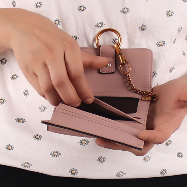 Wallet,The Ring Wallet in Pink - Cippele Multi Store