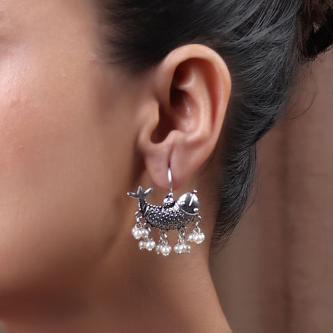 The Treasured Dolphin Silver Look Alike Earring