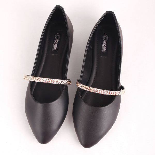 Foot Wear,The Ornamented string Black Belly - Cippele Multi Store