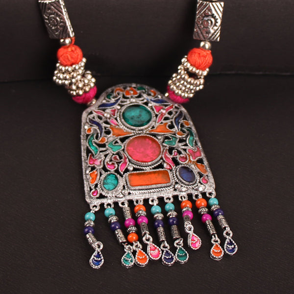 Necklace,The Gleamy Gateway Necklace in Multicolor - Cippele Multi Store