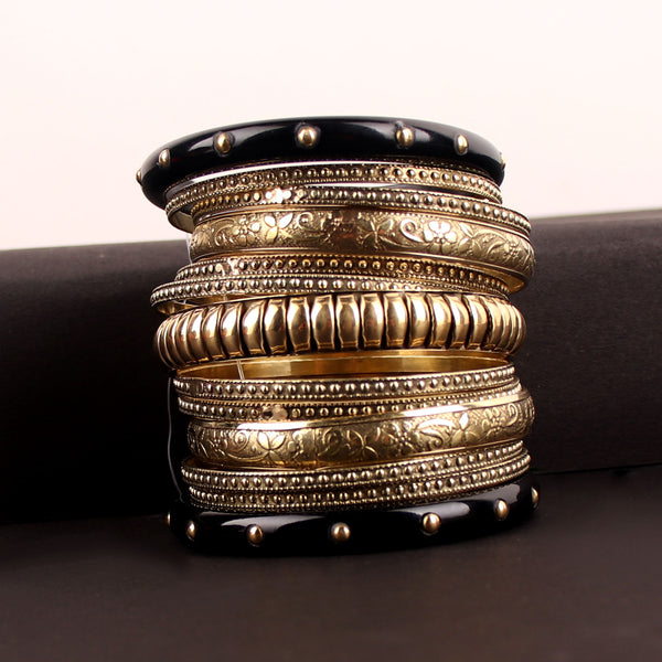 Hand Cuff,Exquisite Medieval Bangle Set in Black - Cippele Multi Store