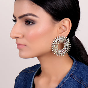Earrings,Sizzling Sun Studs in Golden - Cippele Multi Store