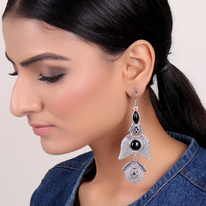 Earrings,Black Stone Earrings - Cippele Multi Store