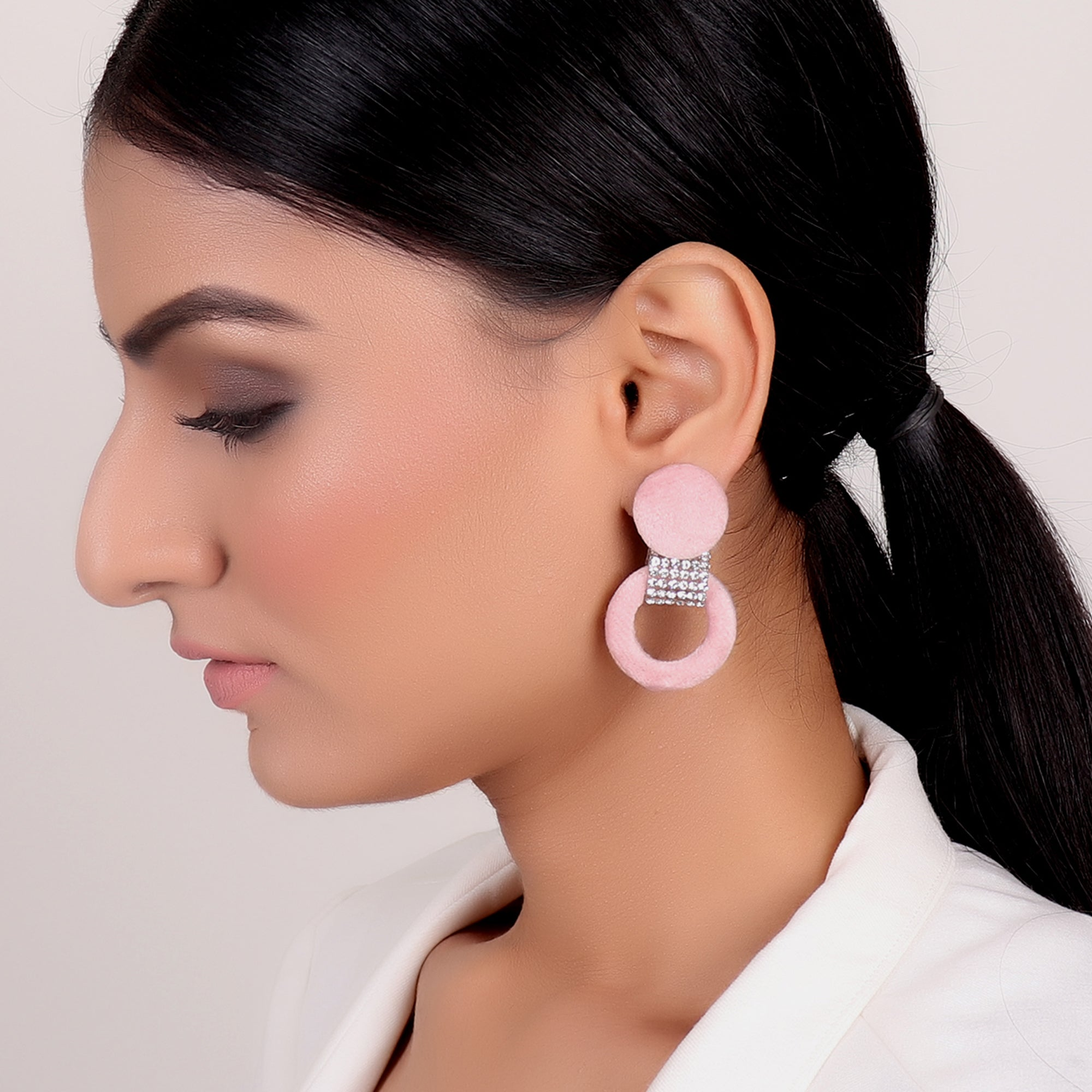 Earrings,Infinity Loop fashion Earrings in Pink - Cippele Multi Store