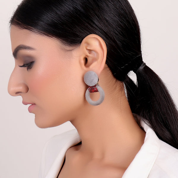 Earrings,Infinity Loop fashion Earrings in Grey - Cippele Multi Store