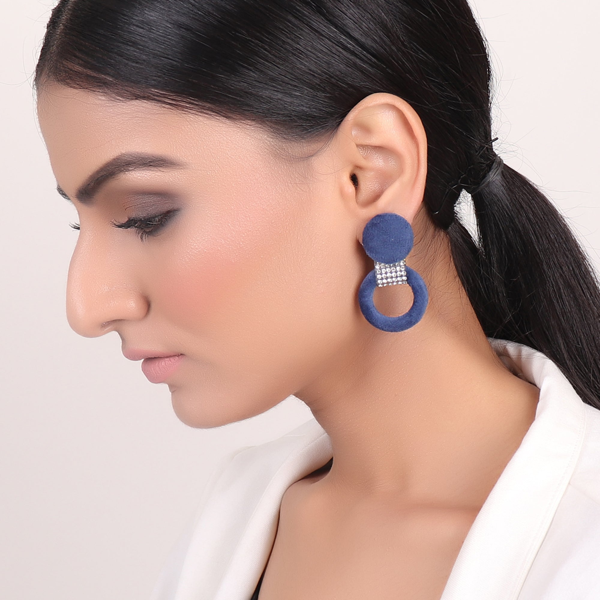 Earrings,Infinity Loop fashion Earrings in Blue - Cippele Multi Store