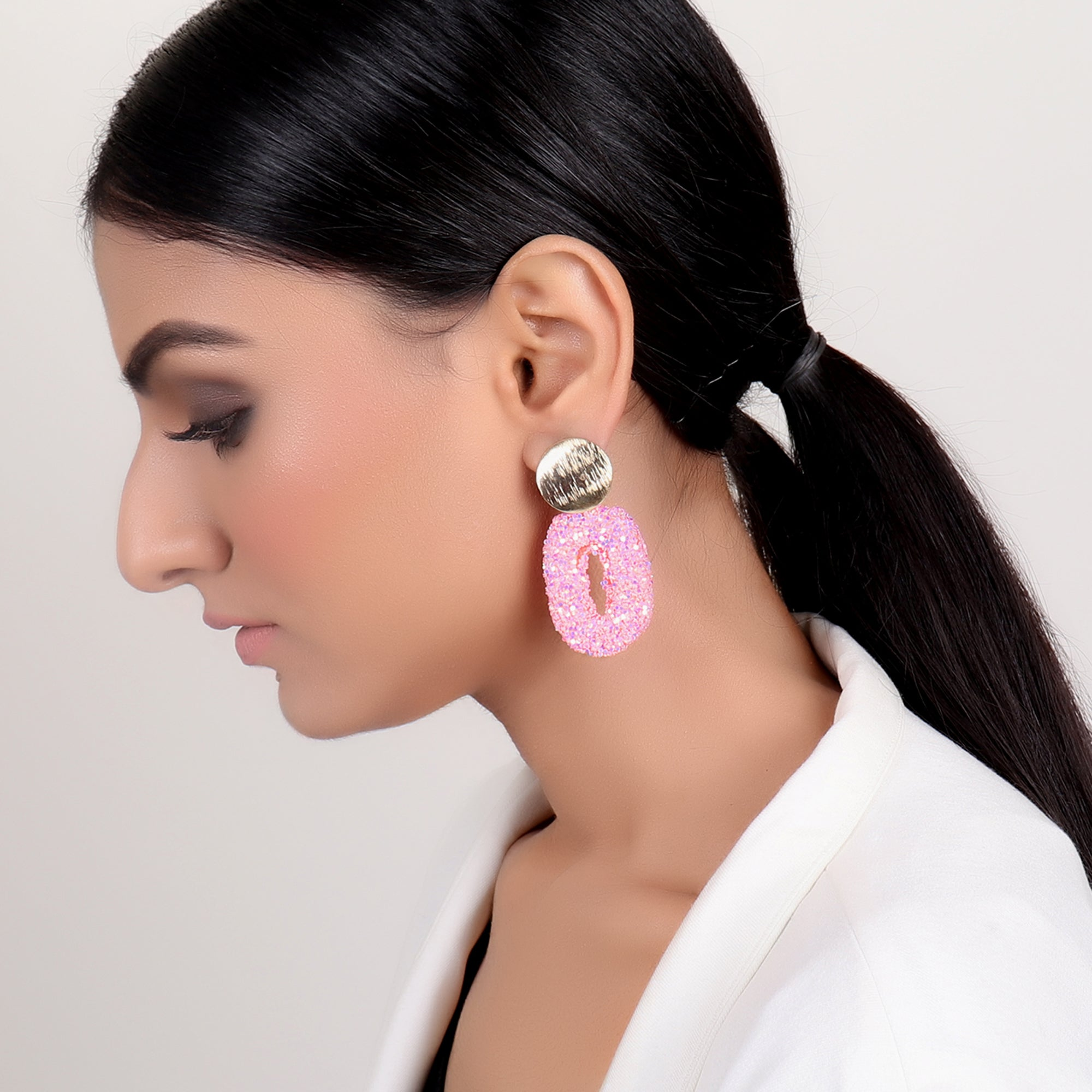 Earrings,Dazzling Earrings in pink - Cippele Multi Store