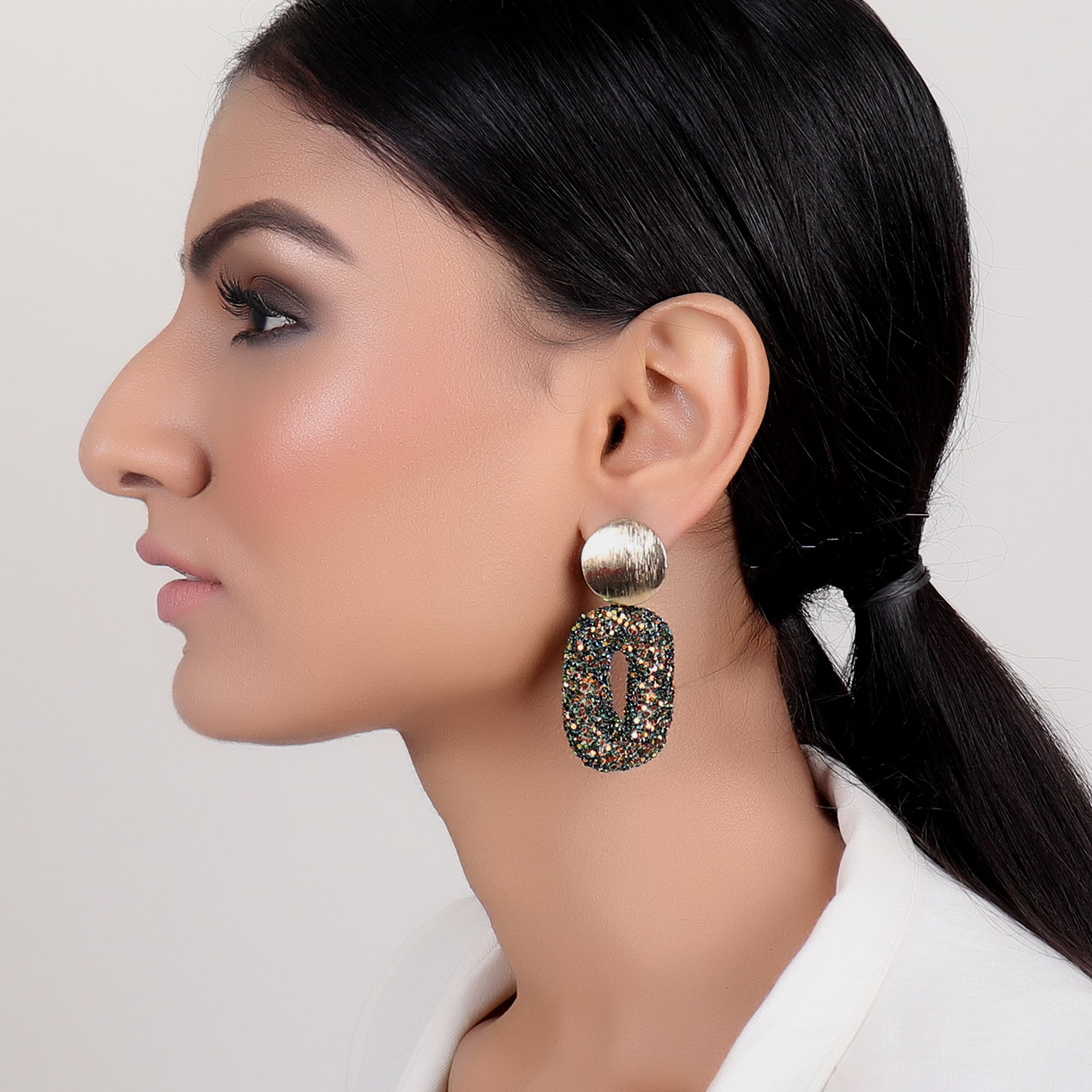Earrings,Dazzling Earrings in multicolor - Cippele Multi Store