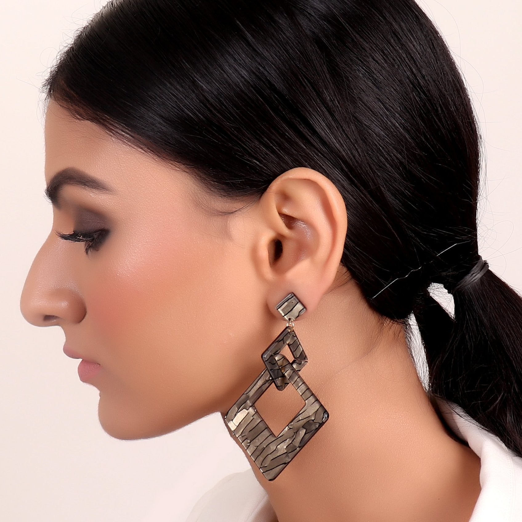 Earrings,Brown Danglers - Cippele Multi Store