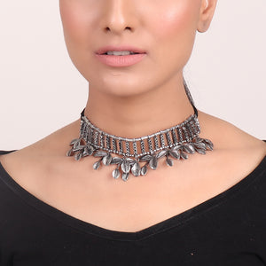 Necklace,Metal Leaves Choker - Cippele Multi Store