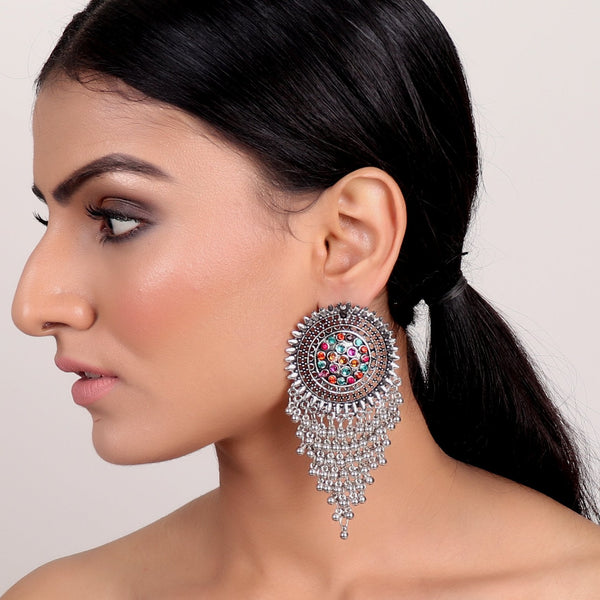 Earrings,Sassy Metal Earrings in Multicolor - Cippele Multi Store