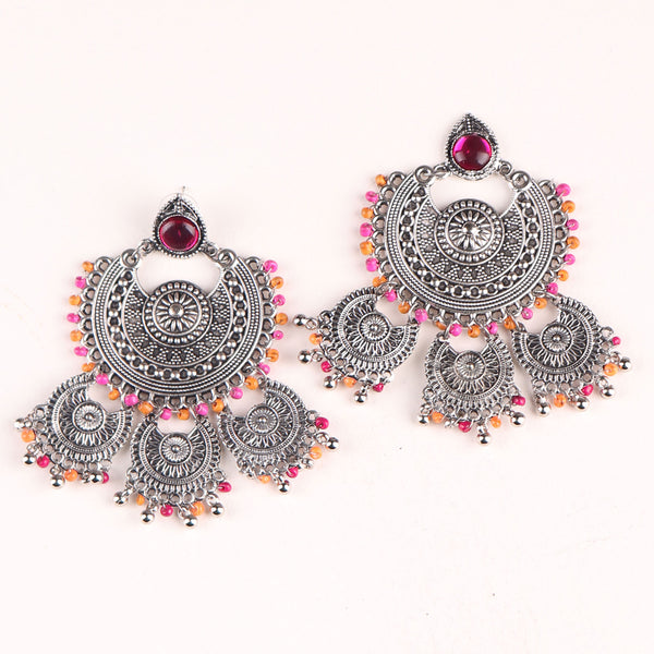 Earrings,The Galaxy Earring in Pink & Orange - Cippele Multi Store