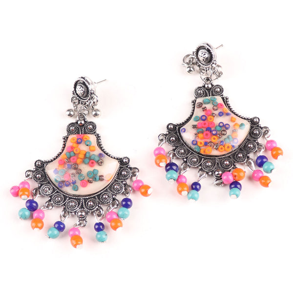 Earrings,The Designer Spade in Multicolor - Cippele Multi Store