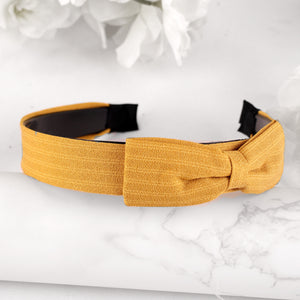 HairBand,Bewitching Bow Hair Band in Yellow - Cippele Multi Store