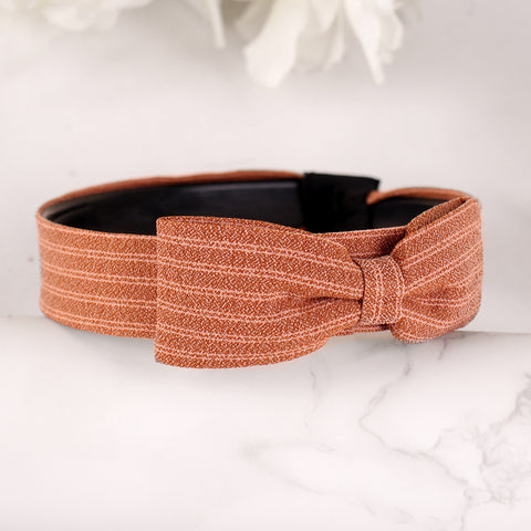 HairBand,Bewitching Bow Hair Band in Brown - Cippele Multi Store