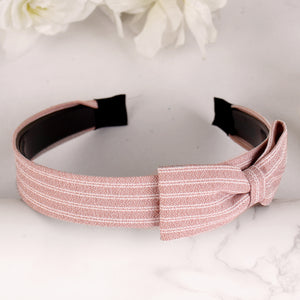 HairBand,Bewitching Bow Hair Band in Lavender Pink - Cippele Multi Store