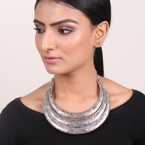 Necklace,Three-layered Hasli Necklace - Cippele Multi Store
