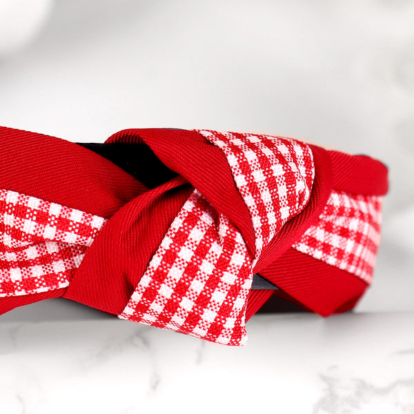 HairBand,Quirky Knot Hair Band in Red - Cippele Multi Store