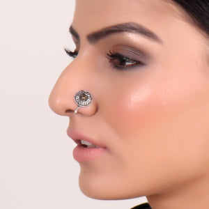 Nose Pin,Shield Style Round Nose Pin - Cippele Multi Store