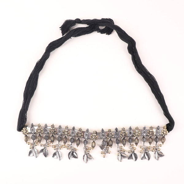 Necklace,Gulbandh Style Choker Necklace in Dual Tone - Cippele Multi Store