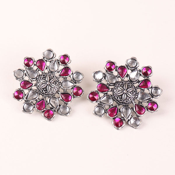 Earrings,The Pearl Hive Studs in Pink - Cippele Multi Store