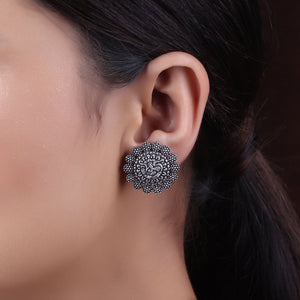 Earrings,The Ekdant Silver Look Alike Stud - Cippele Multi Store
