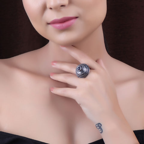 Ring,The Dome of Eden Silver Look Alike Ring - Cippele Multi Store