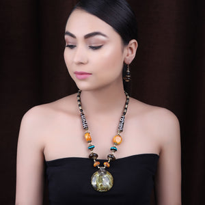 The Celestial Necklace Set in Earthy color