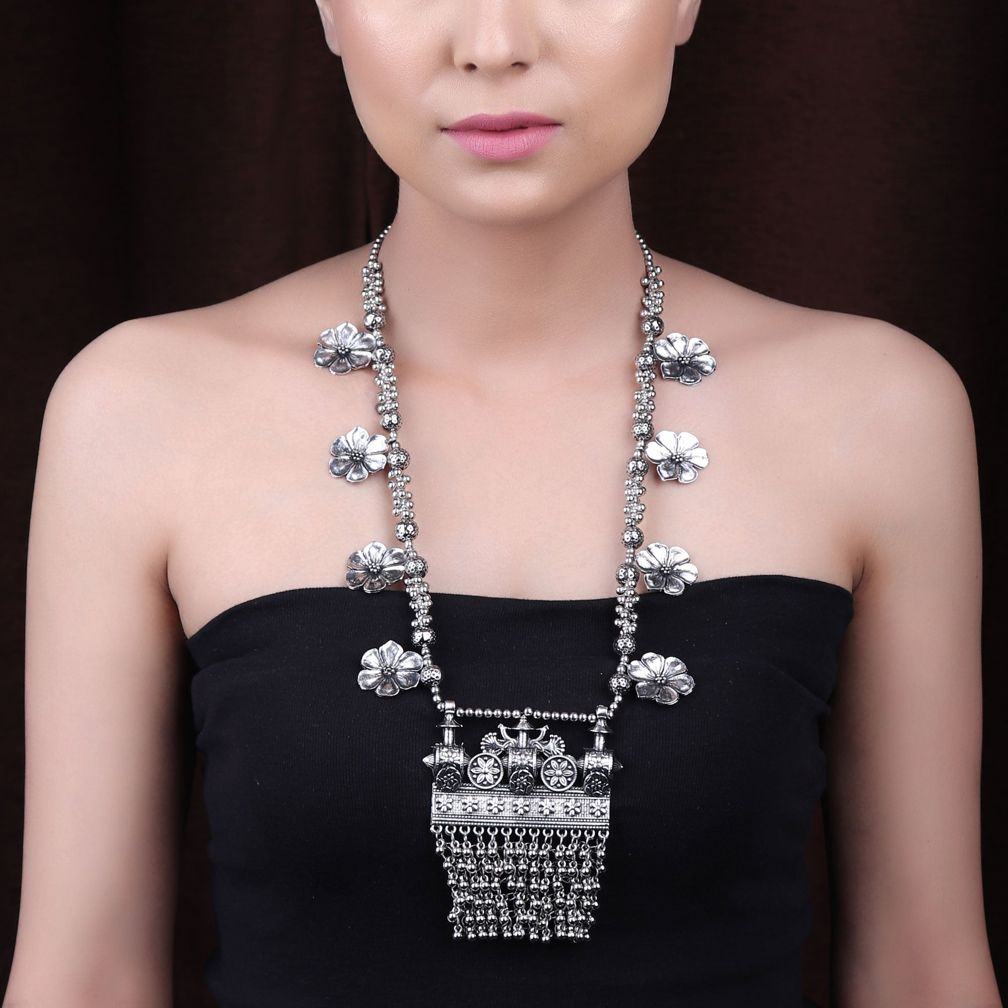 Necklace,The Imperial Treasure Necklace in Silver - Cippele Multi Store