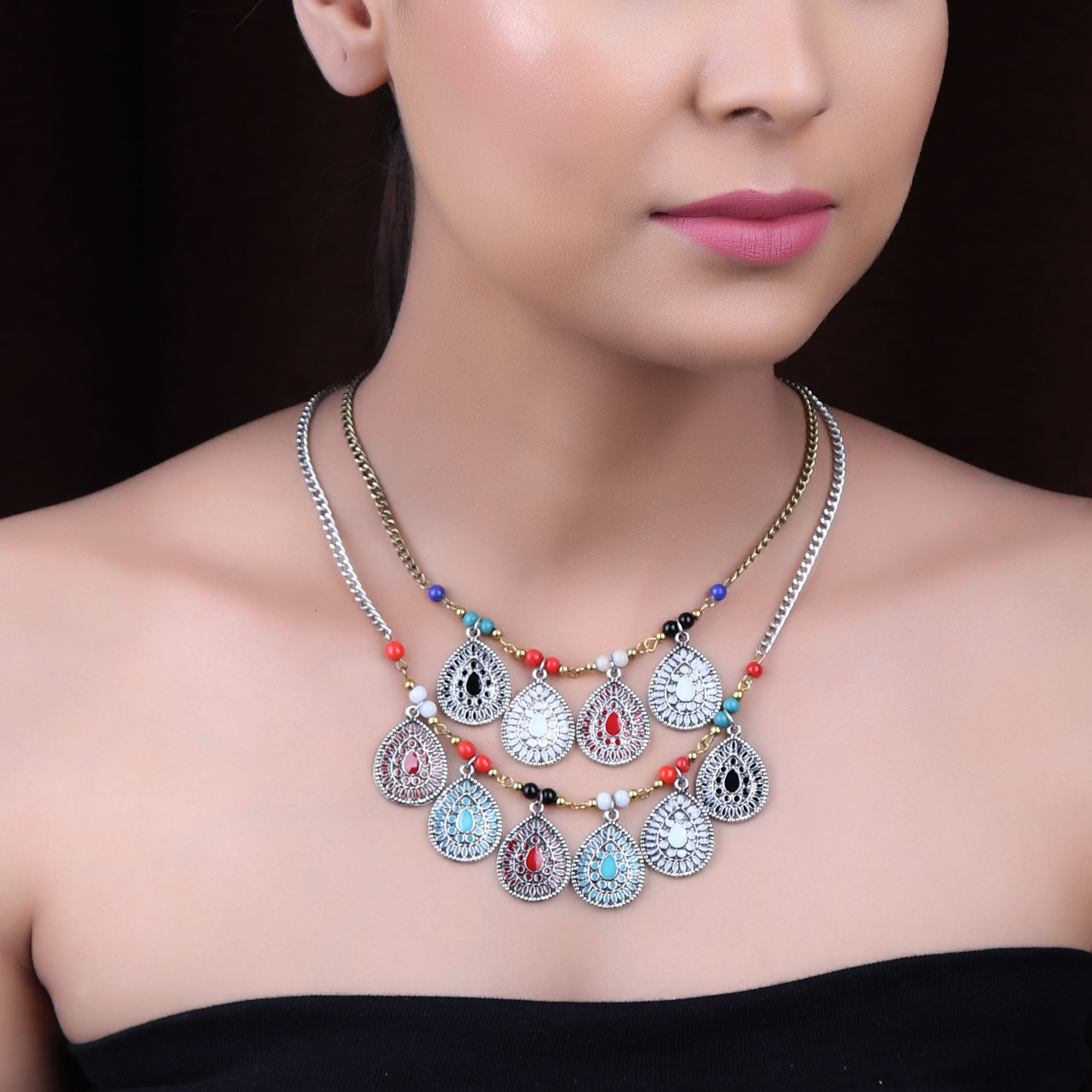 Necklace,The Dual Layered Souvenir Necklace - Cippele Multi Store