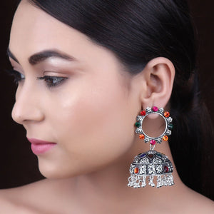 Earrings,The Twirl Pearl Earring in Multicolor - Cippele Multi Store