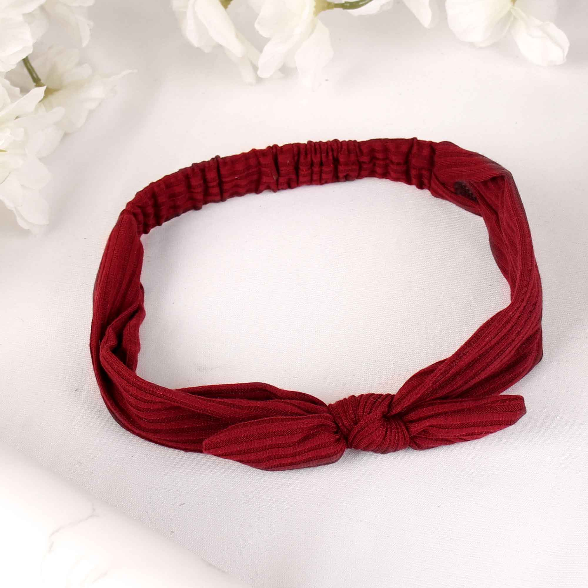 HairBand,The Mermaid's Fabric Hairband in Maroon - Cippele Multi Store