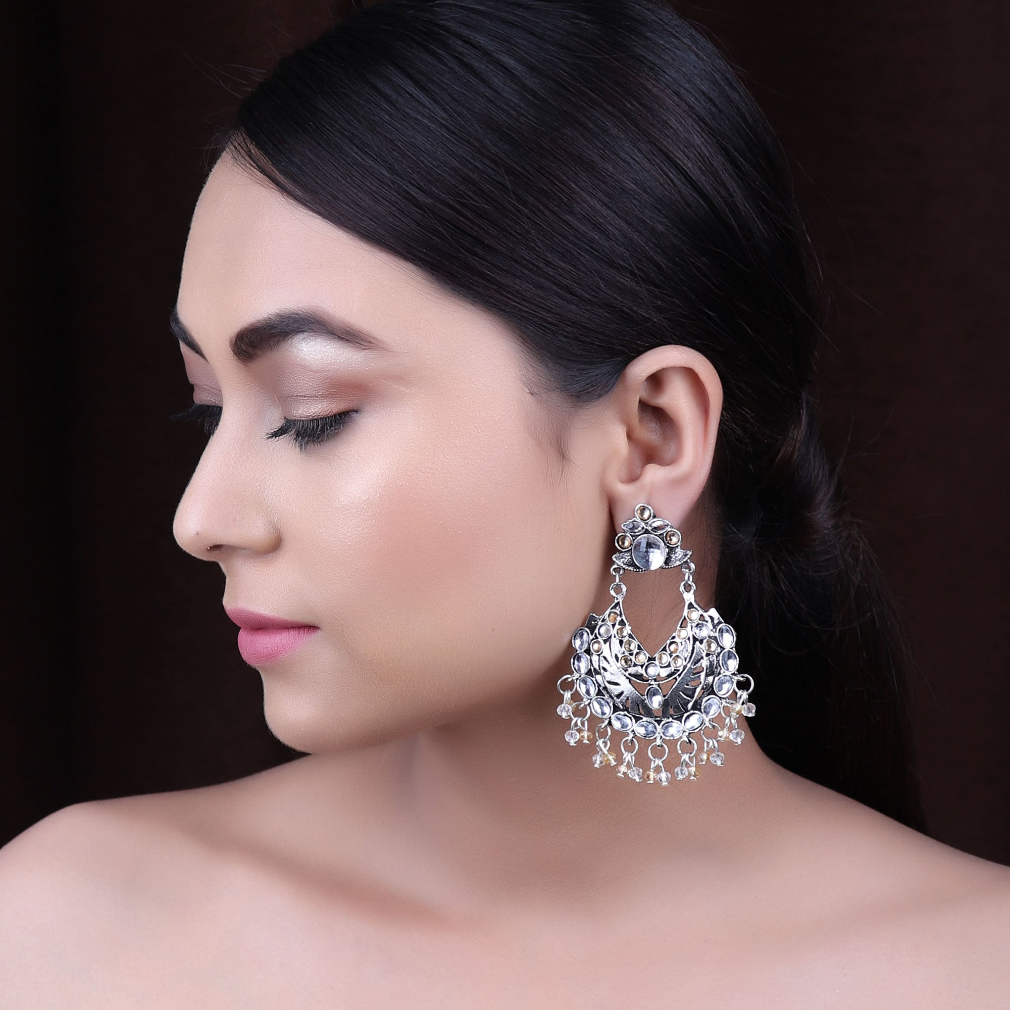 Earrings,The Vibrant Gleamy Pearl Earrings in White & Cream - Cippele Multi Store