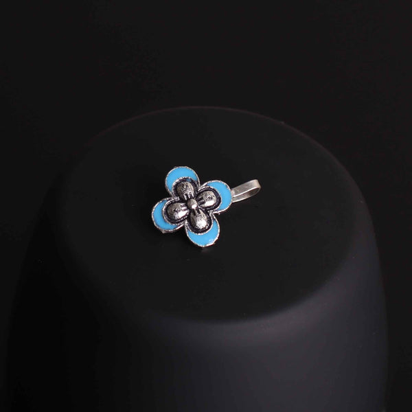 Nose Pin,The Butterfly Nose Pin in Turquoise Blue - Cippele Multi Store