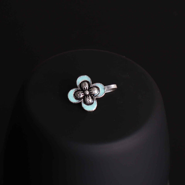 Nose Pin,The Butterfly Nose Pin in Sky Blue - Cippele Multi Store