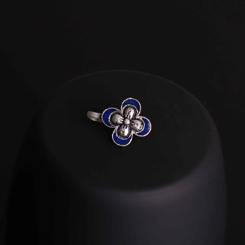 Nose Pin,The Butterfly Nose Pin in Dark Blue - Cippele Multi Store