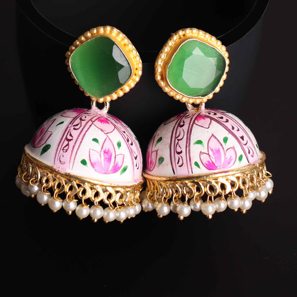Earrings,Hand painted Exquisite Jhoomar - Cippele Multi Store