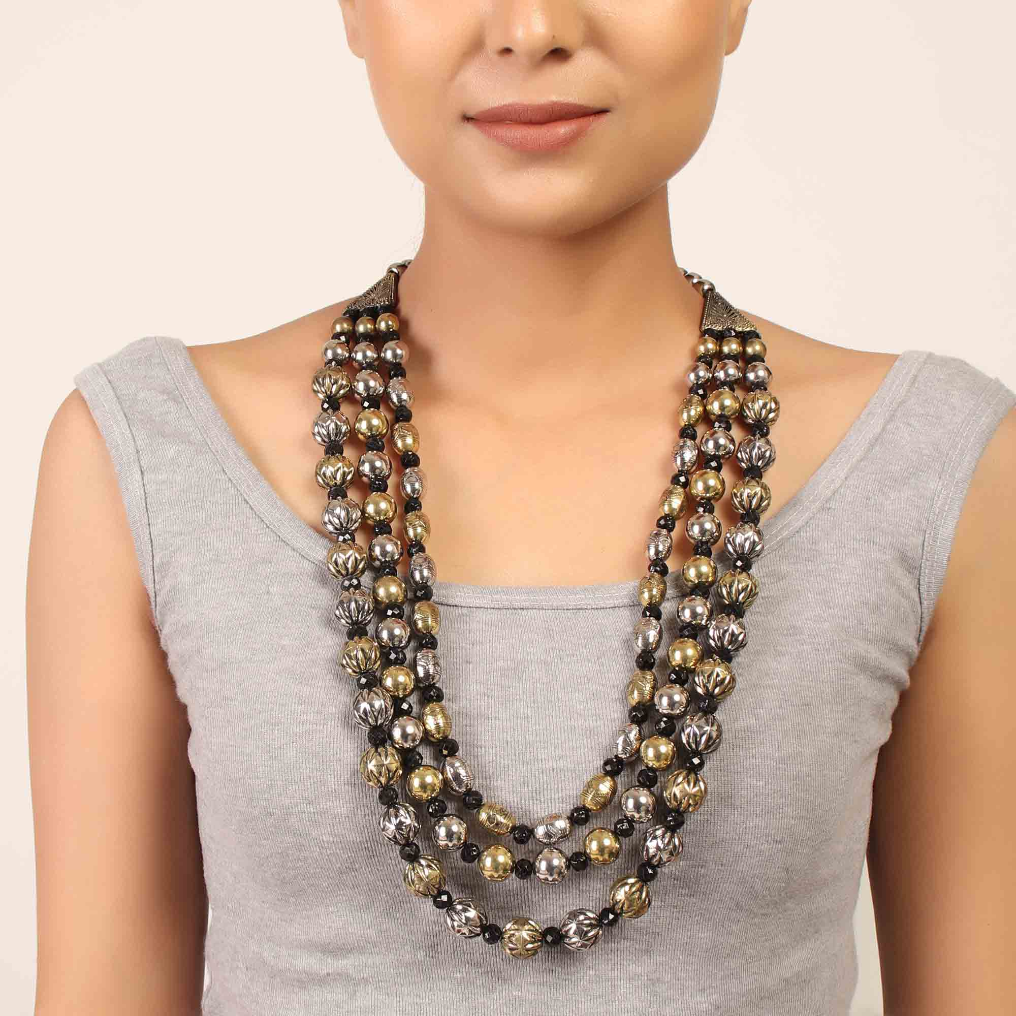 Necklace,The Chocolate Pallet Layered Necklace - Cippele Multi Store