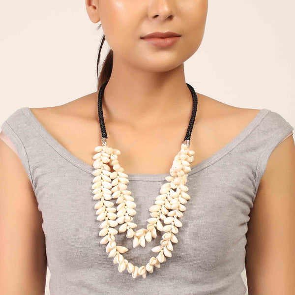 Necklace,The Floral Cowries Necklace - Cippele Multi Store