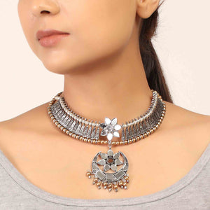 Necklace,The Turkish Glassy Choker Necklace - Cippele Multi Store