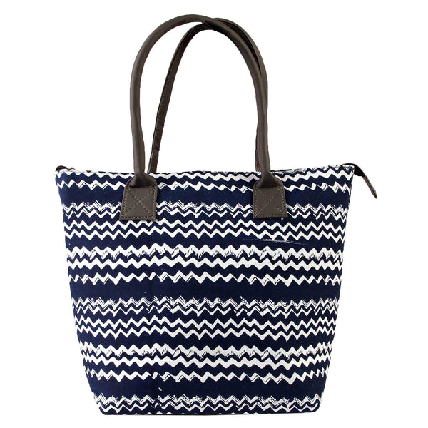 Tote Bag,The Tipsy Wavey Fabric Tote Bag - Cippele Multi Store