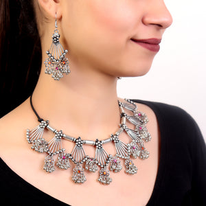 Necklace Set,Floral Dropdown Necklace Set - Cippele Multi Store