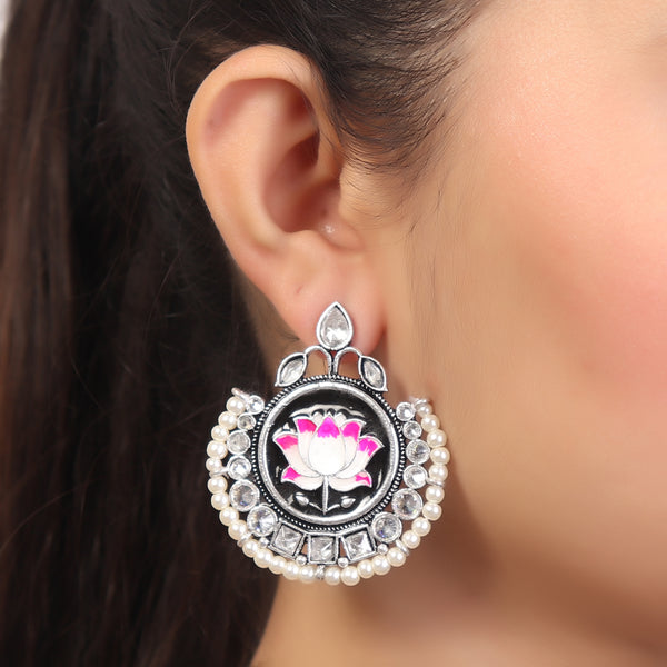Earrings,Lotus Love Earrings - Cippele Multi Store