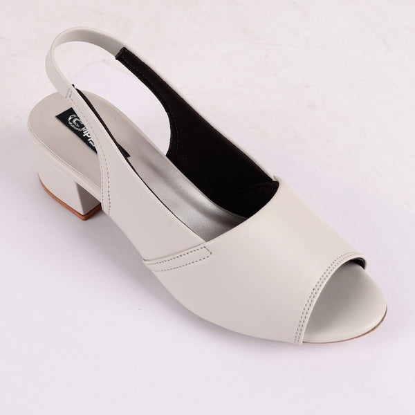 Foot Wear,White Fairy's Block Heels - Cippele Multi Store