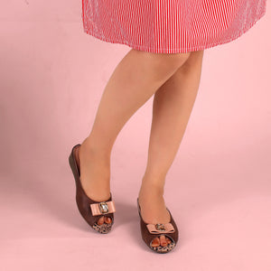 Foot Wear,The Safari Brown Wedge Heel - Cippele Multi Store